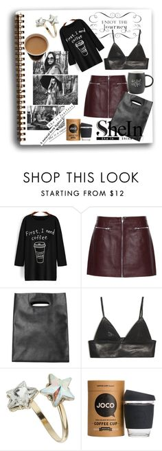 """""""First, I Need Coffee"""" by catherine-earnshaw ❤ liked on Polyvore featuring Alexander Wang, Monki, T By Alexander Wang, Topshop, JOCO, Printable Wisdom, women's clothing, women's fashion, women and female"""