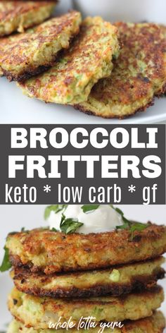 Low carb keto broccoli fritters make quick 20 minute broccoli recipes that are also gluten free and vegetarian. These low carb side dishes also make a great keto appetizer, gluten free snack, or vegetarian meals.Informations About Pan Fried Broccoli Pan Fried Broccoli, Broccoli Fritters, Broccoli Patties, Broccoli Side Dishes, Broccoli Slaw, Vegetarian Main Dishes, Vegetarian Keto, Paleo Food, Vegetarian Broccoli Recipes