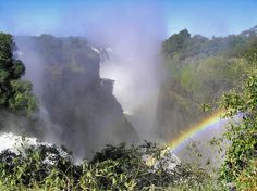 Marilyn Whiteley - Victoria Falls with rainbow