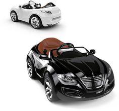 Carros elétricos de luxo para as crianças com berço de ouro :P