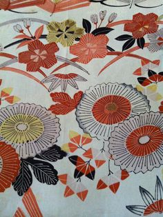 From my collection: vintage kimono fabric....v