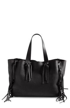 Valentino Rockstud Rolling Fringe Shoulder Bag Black Bags Pinterest And