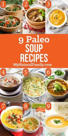 Paleo Soup Recipes That are Good Any Time – My Natural Family Aquí hay 9 recetas de sopa Paleo. Easy Cauliflower Soup, Paleo Chicken Soup, Paleo Soup, Winter Dinner Recipes, Paleo Dinner, Paleo Recipes, Soup Recipes, Paleo Meals, Recipes