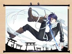 Anime Noragami Yato Home Decor Poster Wall Scroll Mural Fresco Christmas #B654 in Collectibles, Animation Art & Characters, Japanese, Anime   eBay