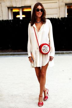 White #Summer #Dress from street-style-chic.tumblr.com