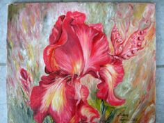 Discover Painting by Lunic Aurora on Touchtalent. Touchtalent is premier online community of creative individuals helping creators like Lunic Aurora in getting global visibility. Aurora, Iris, Oil On Canvas, World, Creative Art, Artworks, Flowers, Painting, Collection