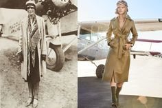 Rihanna Takes Flight - the pop star channels Amelia Earhart in looks that are utilitarian, modern, and sexy; Amelia Earheart's an American aviation pioneer and author.