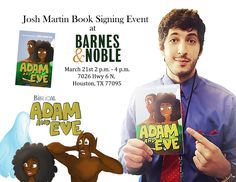 Josh Martin will be visiting Barnes and Noble Copperfield on March 2020 from 2 p. to 4 p. to sign copies! March 21st, College Station, News Studio, Adam And Eve, Book Signing, Book Series, Happy New Year, Brand Names, Charity