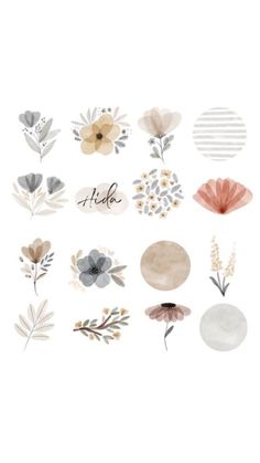 Journal Stickers, Scrapbook Stickers, Instagram Highlight Icons, Aesthetic Stickers, Aesthetic Iphone Wallpaper, Aesthetic Art, Cute Stickers, Cute Drawings, Cute Art