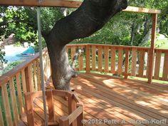 Tree Cutout for A Free Standing Multilevel Wood Tree House - La Canada / Flingridge, CA