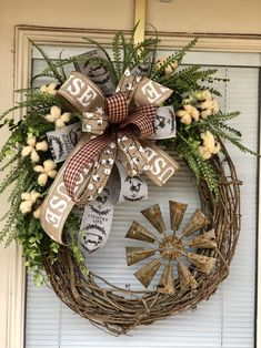 Excited to share this item from my shop: New Farmhouse Rustic Cotton Windmill Wreath Diy Wreath, Door Wreaths, Grapevine Wreath, Wreath Ideas, Holiday Wreaths, Holiday Decor, Country Wreaths, Year Round Wreath, Primitive Christmas