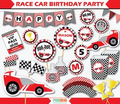 Race Car Birthday - Racing Party by PixieBearParty on Etsy #RaceCar #BirthdayParty