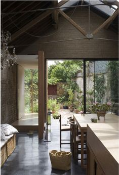 the collage house, london | jonathan tuckey design | his own home, a converted stainless steel workshop.
