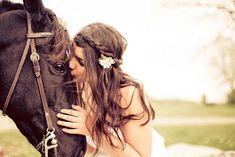 Bohemian, horses, braids/plaits flower hair clip (yip that's me)