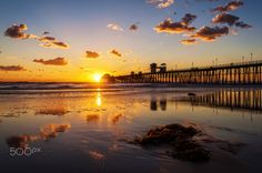 Golden Sunset at Oceanside Pier - December 14, 2015 by Rich Cruse on 500px