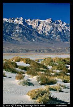 Sierra Nevada Range over Owens Valley, California