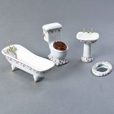 Victorian Dollhouse Bathroom Furniture Set - Scale model - For model making  marcmart.com