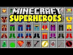 Minecraft Marvel, Minecraft Cheats, Minecraft Modpacks, How To Play Minecraft, Mincraft Mods, Minecraft Interior Design, Pocket Edition, Amazing Spiderman, Mini Games