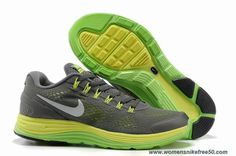 New 524978-007 Grey Green Nike LunarGlide 4 Mens