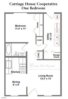 Two Level Floor Plans 1 Bedroom 1 Bath