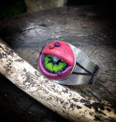 Monster Eye cuff by LeftForDeadDesigns on Etsy, $25.00