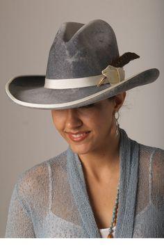 Grey Shaded Wool Gus Crown Hat