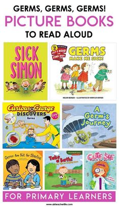 Let's talk about germs! Rather, let's read about them. Here's a list of six, informative picture books you can read aloud to your students. Germs are Not for Sharing By: Elizabet Verdic There are a ton of highlights with this book. One, it takes a complex topic like germs and make it understandable for primary ... Read More about  Germ Books for Kids The post Germ Books for Kids appeared first on A Kinderteacher Life.