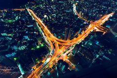 #Japan Aerial view of Shinjuku Tokyo at night - photo: JustinTierney / 500px