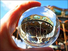Valenciennes caroussel through the crystal ball  by april-mo, via Flickr