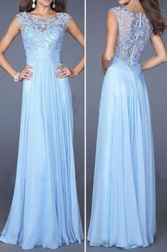 Women Lace Crochet Pleated Sheer Sexy Chiffon Maxi Party Dress - Pink, S Backless Prom Dresses, Prom Dresses Blue, Homecoming Dresses, Cute Dresses, Beautiful Dresses, Formal Dresses, Party Dresses, Maxi Dresses, Maxi Chiffon
