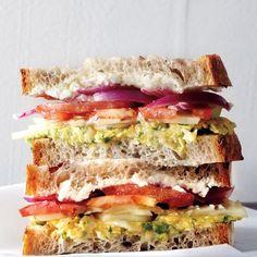 High Protein #Breakfast Idea: Mediterranean #Sandwich