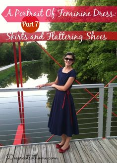 A Portrait Of Feminine Dress, Part 7 ~ Skirts and Flattering Shoes