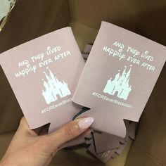 And they lived happily ever after #Disney Wedding Koozies