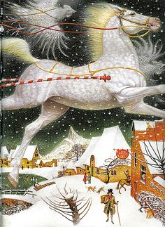 Illustration (detail) by Vladislav Erko (Kiev, b.1962) from The Snow Queen by Hans Christian Andersen