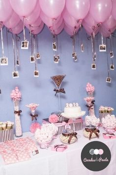 Mesa De Dulces Ideas Birthday Party E Birthday Decorations Birthday Party Decorations, Baby Shower Decorations, Birthday Parties, 18th Birthday Party Ideas For Girls, 18th Birthday Party Themes, Sweet 16 Decorations, Birthday Backdrop, Balloon Decorations, Table Decorations