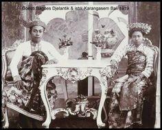 Karangasem King Gusti Bagus Djelantik & wife 1919
