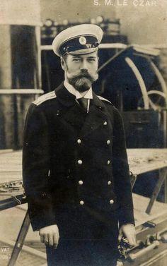 "WWI ~Tsar Nicholas II. ""I just love him, he always looks like he's smiling.""…"