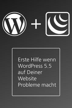 Deine Website funktioniert nach dem Update auf WordPress 5.5 nicht mehr richtig oder wird nicht mehr korrekt dargestellt? Die Ursache liegt in den meisten Fällen an einer kleinen Änderung. So löst Du das Problem. Buick Logo, Wordpress, Logos, Interesting Facts, First Aid, Logo