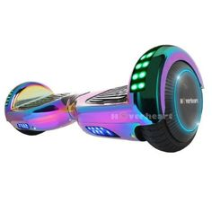 Hoverboard Two-Wheel Self Balancing Electric Scooter UL 2272 Certified, Metallic Chrome with Bluetooth Speaker and LED Light, Chrome Rainbow Teen Birthday, Unicorn Birthday, Birthday Gifts, Birthday Ideas, Teen Presents, Cute Headphones, Unicorn Room Decor, Unicorn Fashion, Accessoires Iphone