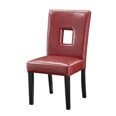 Coaster Furniture Abigail Key Hole Side Chair - Set of 2 Red - COA3104-2