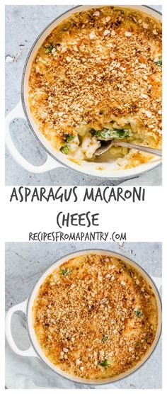 asparagus macaroni cheese - Comfort food alert - creamy asparagus macaroni cheese recipe with a crunchy golden breadcrumb topping. Asparagus mac and cheese | recipesfromapantry.com