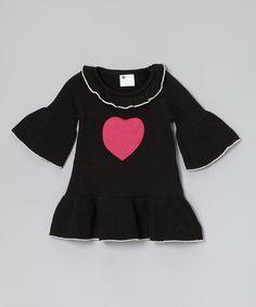 Loving this Black Charlotte Sweater Dress - Infant, Toddler & Girls on #zulily! #zulilyfinds