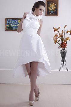 Halter Sweet White Ivory Bridal Gowns - Order Link: http://www.theweddingdresses.com/halter-sweet-white-ivory-bridal-gowns-twdn3873.html - Embellishments: Beading; Length: Floor Length; Fabric: Taffeta; Waist: Natural - Price: 185.4353USD