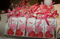 Hugs Kisses From Olivia sugar cookie party favors