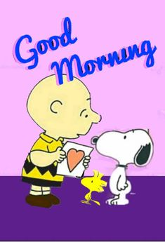 Good Morning Snoopy, Morning Gif, Good Morning Quotes, Snoopy Love, Snoopy And Woodstock, Good Morning Wallpaper, Pink Pearls, Peanuts Snoopy, Ponds