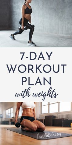 One Week Workout Plan With Dumbbells You Can Do At Home - Beauty Bites