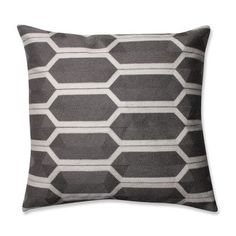 Pillow Perfect Graphic Detail Throw Pillow Color: Iron