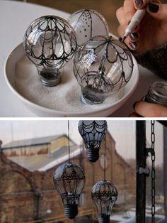 balao feito com lampadas