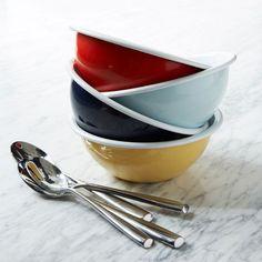 Colored Enamel Bowls — 4 colors! | west elm