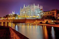 Kathedrale La Seu. Mallorca Palma de Majorca cathedral.